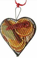 Hanging Metal Mesh Case: Heart (2 sizes, 3 colours  available)